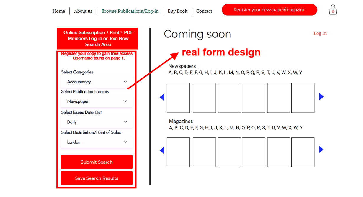 Which Advertising Rate Card- Convert picture to responsive real html form on   Wix